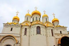 Χρυσοί θόλοι, εκκλησία στη Μόσχα Στοκ Φωτογραφία