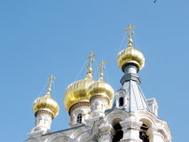 Χρυσοί θόλοι της Ιερουσαλήμ της εκκλησίας ST Μαρία Magdalena 2008 Στοκ εικόνες με δικαίωμα ελεύθερης χρήσης