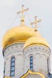 Χρυσοί θόλοι της παλαιάς Ορθόδοξης Εκκλησίας Στοκ Εικόνες