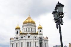 Χρυσοί θόλοι Χριστού η εκκλησία Savior στη Μόσχα, Ρωσία στοκ φωτογραφίες