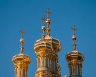Χρυσοί θόλοι Tsarskoye Selo στοκ φωτογραφία με δικαίωμα ελεύθερης χρήσης