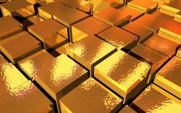 Χρυσοί κύβοι Στοκ φωτογραφία με δικαίωμα ελεύθερης χρήσης