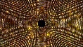 Χρυσοί κύκλοι Glitterin ελεύθερη απεικόνιση δικαιώματος