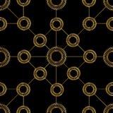 Χρυσοί κύκλοι στο υπόβαθρο dlack Στοκ φωτογραφίες με δικαίωμα ελεύθερης χρήσης