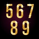 Χρυσοί να λάμψει αριθμοί ελεύθερη απεικόνιση δικαιώματος