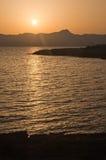 Χρυσοί ουρανοί και ήλιος στοκ φωτογραφίες