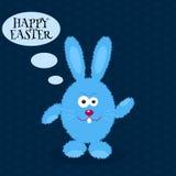 χρυσοί πλούσιοι κουνε&lam Ευχετήρια κάρτα με το κουνέλι Πάσχας bunny Πάσχα επίσης corel σύρετε το διάνυσμα απεικόνισης Στοκ Εικόνες