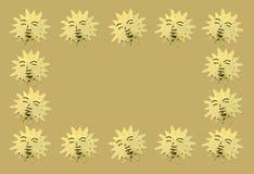 Χρυσοί συμβολικοί ήλιοι ως διακόσμηση Στοκ Εικόνες