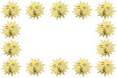 Χρυσοί συμβολικοί ήλιοι ως διακόσμηση Στοκ φωτογραφίες με δικαίωμα ελεύθερης χρήσης