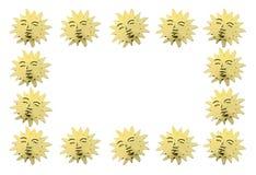 Χρυσοί συμβολικοί ήλιοι ως διακόσμηση Στοκ φωτογραφία με δικαίωμα ελεύθερης χρήσης