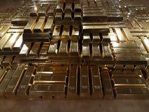 Χρυσοί φραγμοί και οικονομική έννοια στοκ φωτογραφία με δικαίωμα ελεύθερης χρήσης