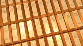 Χρυσοί φραγμοί - οικονομική έννοια επιτυχίας και επένδυσης ελεύθερη απεικόνιση δικαιώματος