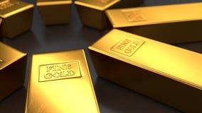 Χρυσοί φραγμοί στα μαύρα υπόβαθρα, βρόχος ελεύθερη απεικόνιση δικαιώματος