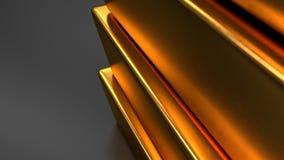 Χρυσοί φραγμοί στα μαύρα υπόβαθρα ελεύθερη απεικόνιση δικαιώματος
