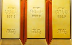 Χρυσοί φραγμοί Στοκ εικόνα με δικαίωμα ελεύθερης χρήσης