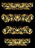 Χρυσοί floral καλλωπισμοί απεικόνιση αποθεμάτων