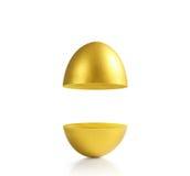Χρυσός ένα αυγό Πάσχας Στοκ φωτογραφίες με δικαίωμα ελεύθερης χρήσης