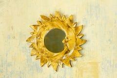χρυσός ήλιος πλαισίων Στοκ Εικόνες