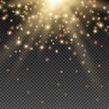 χρυσός ήλιος ακτίνων διανυσματική απεικόνιση