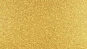 Χρυσός ακτινοβολήστε υπόβαθρο στο χρυσό σκηνικό υψηλής ανάλυσης με τις αντανακλάσεις απόθεμα βίντεο