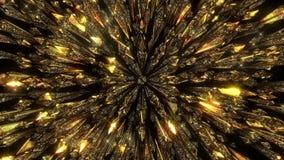Χρυσός ακτινοβολεί υπόβαθρο φιλμ μικρού μήκους