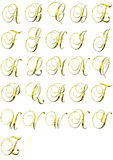 χρυσός αλφάβητου Στοκ Φωτογραφίες