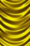 Χρυσός λαμπρός στενός επάνω κουρτινών μεταξιού ελεύθερη απεικόνιση δικαιώματος