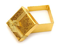 χρυσός ανοικτός δώρων κιβωτίων Στοκ Φωτογραφία