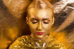 Χρυσός αποτελέστε Στοκ Φωτογραφία