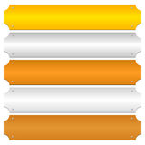 Χρυσός, ασήμι, χαλκός, λευκόχρυσος, φραγμοί μετάλλων χαλκού, έμβλημα backgr διανυσματική απεικόνιση