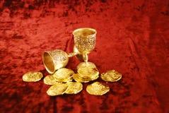 χρυσός ασημένιος πλούτος στοκ εικόνες με δικαίωμα ελεύθερης χρήσης