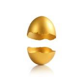 χρυσός αυγών που απομονών Στοκ φωτογραφία με δικαίωμα ελεύθερης χρήσης
