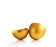 χρυσός αυγών που απομονών Στοκ φωτογραφίες με δικαίωμα ελεύθερης χρήσης