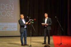Χρυσός αυξήθηκε πρόεδρος κριτικών επιτροπών φεστιβάλ Στοκ Φωτογραφίες