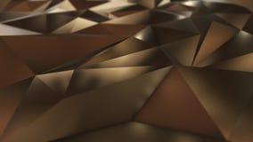 Χρυσός αφηρημένος χαμηλός πολυ τομέας τριγώνων απεικόνιση αποθεμάτων