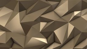 Χρυσός αφηρημένος χαμηλός πολυ τομέας τριγώνων ελεύθερη απεικόνιση δικαιώματος
