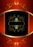 χρυσός βασιλικός καρτών Στοκ εικόνες με δικαίωμα ελεύθερης χρήσης