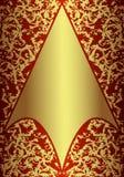 χρυσός βασιλικός καρτών Στοκ Εικόνες