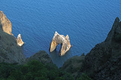 χρυσός βράχος πυλών Στοκ εικόνα με δικαίωμα ελεύθερης χρήσης