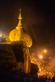 Χρυσός βράχος στο Μιανμάρ Στοκ Εικόνες