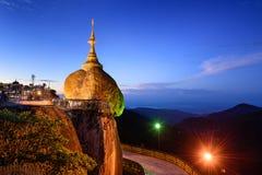 Χρυσός βράχος το Μιανμάρ Στοκ Φωτογραφία