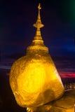 Χρυσός βράχος Στοκ Εικόνα