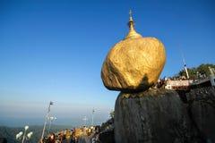 Χρυσός βράχος Kyaiktiyo, το Μιανμάρ Στοκ φωτογραφίες με δικαίωμα ελεύθερης χρήσης