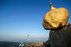 Χρυσός βράχος Kyaiktiyo, το Μιανμάρ Στοκ Φωτογραφία
