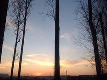 Χρυσός βραδιού ηλιοβασιλέματος Στοκ φωτογραφίες με δικαίωμα ελεύθερης χρήσης