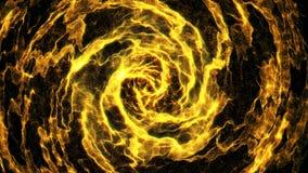 Χρυσός βρόχος μορίων άνευ ραφής απόθεμα βίντεο