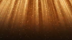 Χρυσός βρόχος υποβάθρου ακτίνων και μορίων διανυσματική απεικόνιση