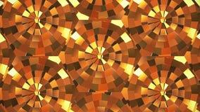 Χρυσός βρόχος Backgrpund καλειδοσκόπιων τρισδιάστατος δώστε ελεύθερη απεικόνιση δικαιώματος