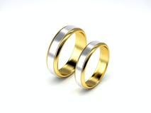 χρυσός γάμος δαχτυλιδιώ&nu Στοκ Εικόνες