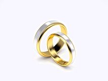χρυσός γάμος δαχτυλιδιώ&nu Στοκ φωτογραφίες με δικαίωμα ελεύθερης χρήσης